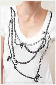 necklace shirt images 50 diy shirts to whip up by the weekend jpg