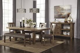 Dining Room Tables For 4 Tamilo Gray Brown Rect Dining Room Ext Table 4 Uph Side