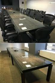 Eames Bistro Table Industrial Office Furniture Of Reclaimed Wood Herman Miller Eames