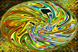 neon gold color background and abstract art of beautiful