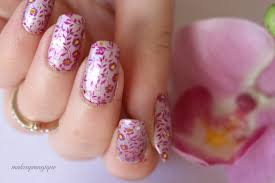 glitter floral nail art tutorial summer nails makeupmagique