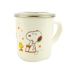 Cute Coffee Cups Peanuts Snoopy Double Wall 304 Stainless Steel Coffee Mug Cup