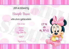 free printable minnie mouse baby shower invitations free printable