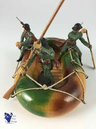 siege social swiss elastolin soldier swiss army boat with pioneers rowers c1930
