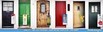 door hangers printing free templates doorhangers