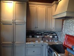 Tin Backsplash For Kitchen Interior Design Appealing Waypoint Cabinets With Tile Backsplash