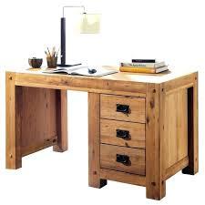 vieux bureau en bois bureau en bois pas cher fantaisie scandinave chene massif l130cm