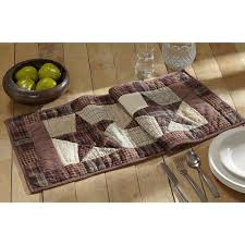 Dining Room Linens Cabin Table Linens Cabin Table Runners U0026 Placemats U2013 Lakecabin Depot