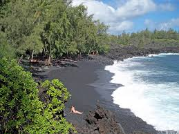 kehena black sand beach after the rains just to let all u2026 flickr