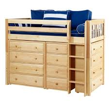 Bunk Beds With Dresser Maxtrixkids Bling Ns Mid Loft Bed With Ladder 2 X4