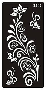 stencils templates tattoo mehndi stencill henna designs s206