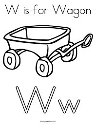 coloring page wagon coloring page letter w is for wagon coloring