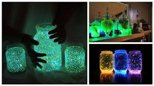 DIY Glow In The Dark Jars  Find Fun Art Projects to Do at Home and