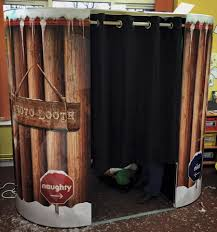 themed photo booth christmas party booth