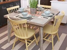 contemporary kitchen colorful kitchen table painted dining table