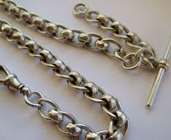 vintage watch chain necklace images Antique silver pocket watch chain 1904 314856 sellingantiques jpg