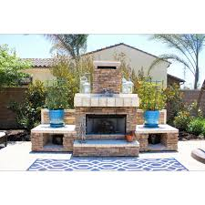 straight fireplace w engineered stone and porcelain tile