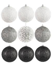 christmas ornament sets formally yours black and white christmas ornament set treetopia