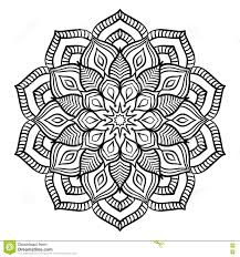 intricate black mandala for coloring stock vector image 71449297