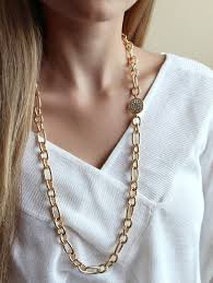 long necklace chains images Long gold chain necklace gold pave necklace long layering jpg