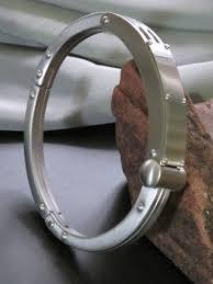 cuff metal bracelet images Unusual stainless steel men 39 s cuff bracelet JPG
