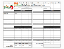 Log Excel Template Food Log Template 29 Free Word Excel Pdf Documents Free