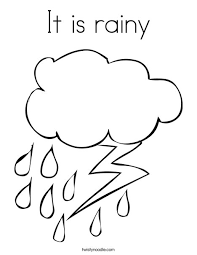 It Is Rainy Coloring Page Twisty Noodle Rainy Day Coloring Pages