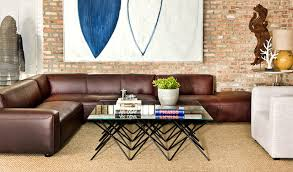 leather sectional by interior define