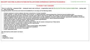 pt hospital security officer work experience letters