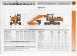 jcb excavator tracked js220 260 330 xd brochure