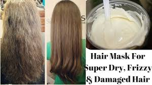 diy hair mask for super dry frizzy u0026 damaged hair cures
