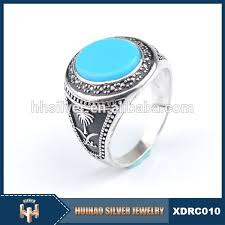 rings for men in pakistan high quality 925 silver arab men ring with black