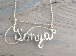 wire name necklace wire name necklace sonya k jewelry