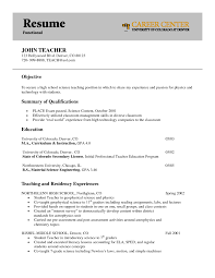 Objective For Teacher Resume Objective For Teaching Resume Free Resume Example And Writing