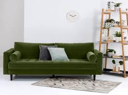 canapé made in canapé vert fonce made canapé vert salons green