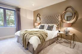 Small Bedroom Window Ideas - bedroom decor gold painted wall frame mirror elegant small