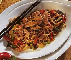 cuisiner du sauté de porc recette porc sauté aux nouilles chinoises 750g
