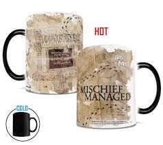 amazon com morphing mugs harry potter hogwarts marauders map heat