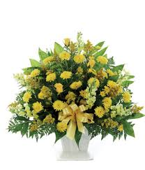 funeral arrangement classic yellow mache bouquet at from you flowers