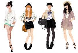 diglee cute fashion cartoons croquis inspiration and fashion