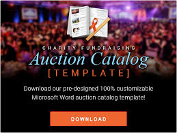auction brochure template create your own auction materials