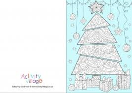 christmas colouring card room