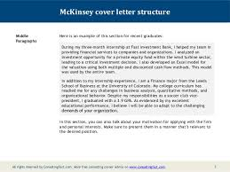 Homely Ideas Resume Letter Examples 7 Cover Letter For Internship by Mckinsey Cover Letter Cerescoffee Co