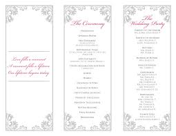 folded wedding program template signatures by wedding stationery for