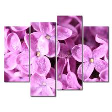 3 piece pink wall art painting mauve lilac picture print on canvas