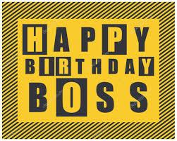 happy birthday card happy birthday boss vector illustration