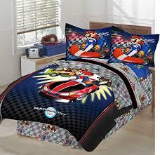 Mario Bedding Set Mario Brothers Mario Kart Size Comforter Set 34pc