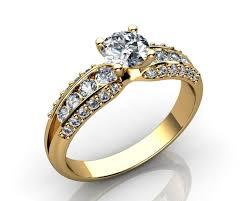 wedding ring models 18k diamond engagement ring 3d print model cgtrader