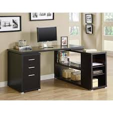 L Shaped Computer Desk Cheap Cappuccino Hollow L Shaped Computer Desk Free Shipping