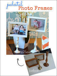 easy pedestal photo frame craft u2013 hip2save
